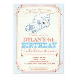 """Ice Cream Truck Party Invitation 5"""" X 7"""" Invitation Card"""