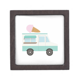 Ice Cream Truck Premium Keepsake Boxes