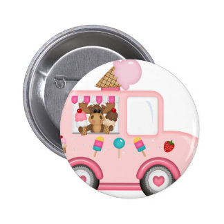 Ice Cream truck with moose Button