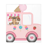 Ice Cream truck with moose Memo Pads