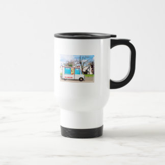 Ice Cream Truck with Music in the Street Travel Mug