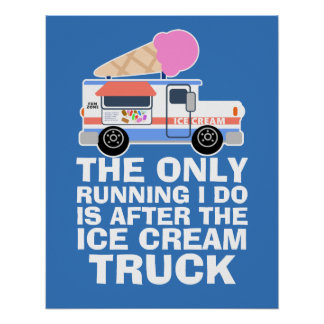 Ice Cream Truck Workout Poster