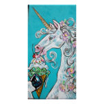 ice cream unicorn poster