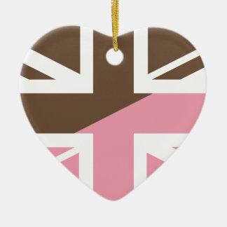 ice-cream Union Jack British(UK) Flag Ceramic Ornament