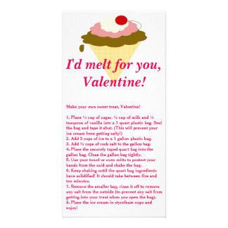Ice Cream Valentine's Day Card