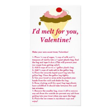 Beach Themed Ice Cream Valentine's Day Card