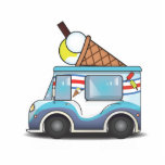 Ice Cream Van Photo Cut Outs
