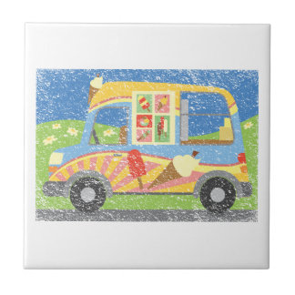 Ice Cream Van Worn Look Ceramic Tile