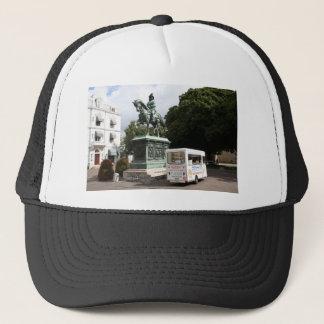 Ice cream vendor and statue trucker hat