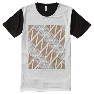 Ice Cream Waffle Cone All-Over Print T-shirt