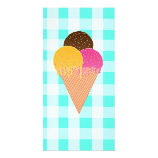 ice-cream waffle cone card