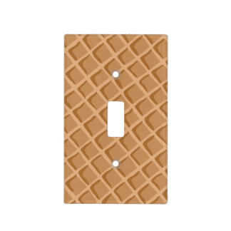 Ice Cream Waffle Cone Pattern Light Switch Cover