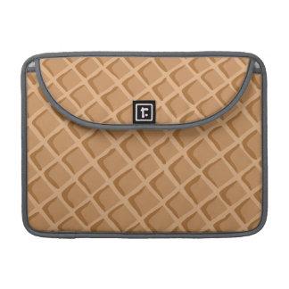 Ice Cream Waffle Cone Pattern Sleeve For MacBooks