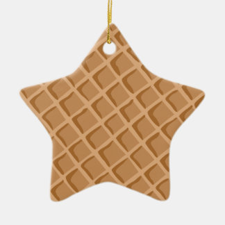 Ice Cream Waffle Cone Pattern Christmas Ornament