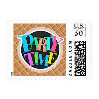 Ice Cream Waffle Cone Pattern Postage