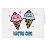 Ice Cream We're One Boy & Girl Card