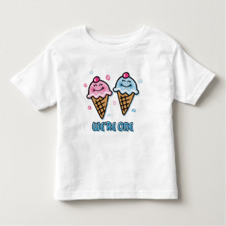 Ice Cream We're One Boy & Girl Toddler T-shirt