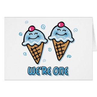 Ice Cream We're One Twin Boys Card