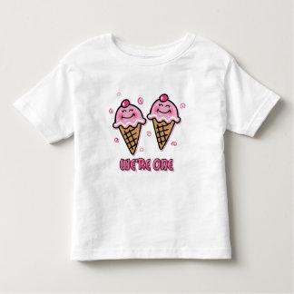 Ice Cream We're One Twin Girls Toddler T-shirt