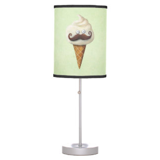 Ice Cream with Mustaches Desk Lamp