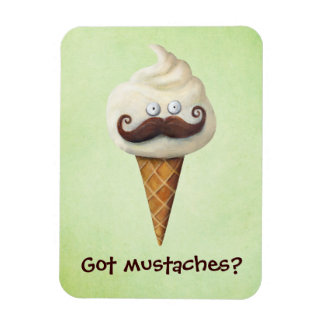 Ice Cream with Mustaches Magnet