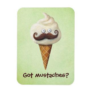 Ice Cream with Mustaches Rectangular Photo Magnet