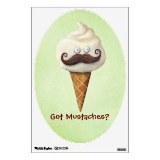 Ice Cream with Mustaches Room Decal
