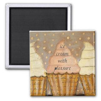 ice cream with pleasure fridge magnet