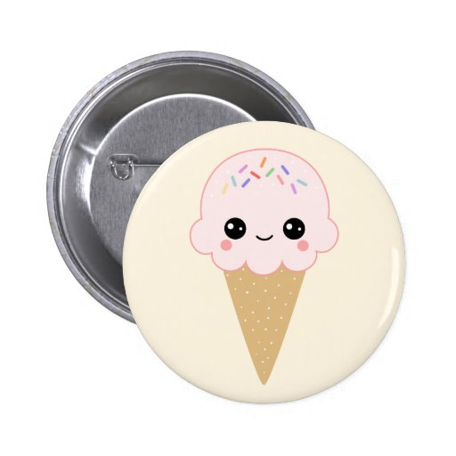 Ice Cream with Sprinkles Pin