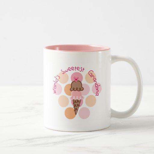 Ice Cream World's Sweetest Grandma Coffee Mug
