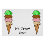 Ice CreamShop Poster