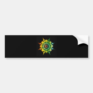 Ice Crystal Color Bumper Sticker