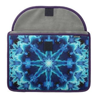 Ice Crystal Light Mandala MacBook Pro Sleeve