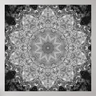 Ice Crystal Mandala Poster