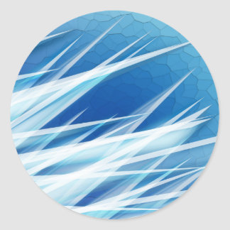 Ice Crystal Shards Classic Round Sticker