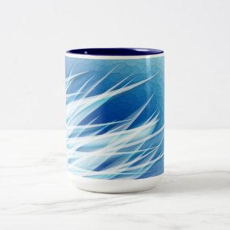 Ice Crystal Shards Two-Tone Coffee Mug