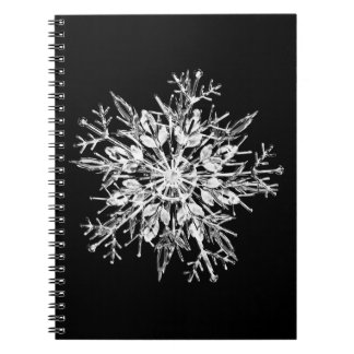 Ice crystal snowflake spiral note book