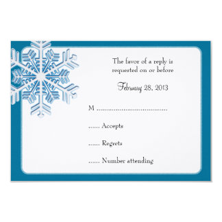 Ice Crystal Snowflake Winter Wedding Reply Cards