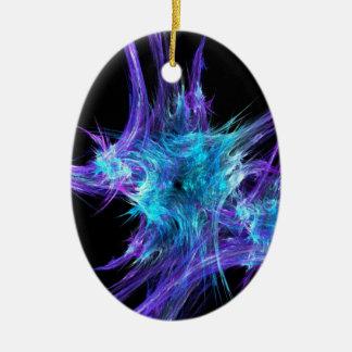 Ice Crystal Star-3-D Ceramic Ornament