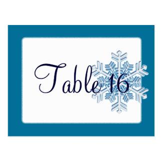 Ice Crystal Wedding Reception Table Numbers Postcard
