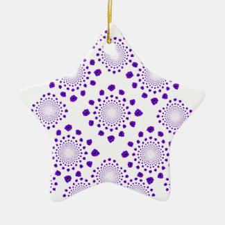 Ice Crystals Ceramic Ornament