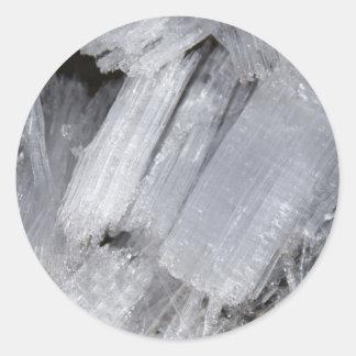 Ice Crystals Classic Round Sticker