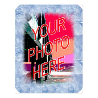 Ice Crystals Frame Template Postcard