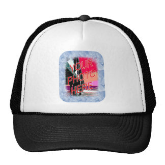 Ice Crystals Frame Template Trucker Hat