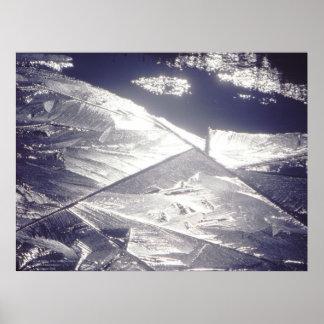 Ice Crystals, Lyell Canyon, California Poster