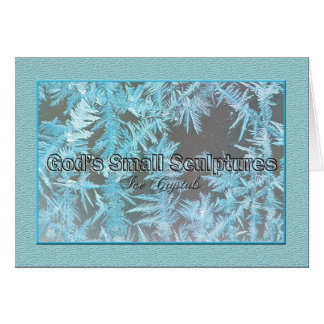 Ice Crystals - Note Card -