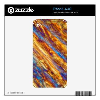 Ice crystals of frozen apple juice iPhone 4 skins