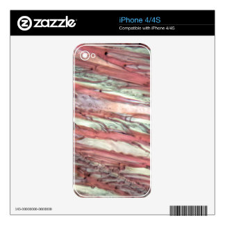 Ice crystals of frozen red grape juice decal for iPhone 4