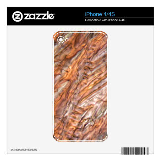 Ice crystals of frozen red grape juice decal for the iPhone 4S