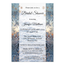Ice Crystals Snow Winter Bridal Shower Invitation